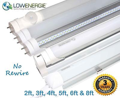 £11.99 • Buy LED Tube Lights Retrofit Fluorescent Energy Saving T8 T12 Frosted Or Clear Light