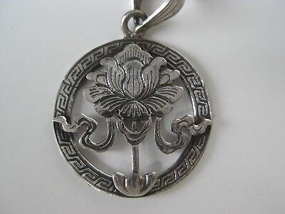 $ CDN31.57 • Buy Sterling Silver Pendant ~ Tibetan Buddhist, Lotus Flower