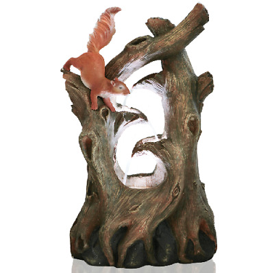 Squirrel Tree Water Feature Fountain Cascade Natural Wood Effect Garden • 157.99£