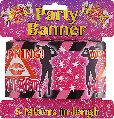 £1.85 • Buy 5 X HEN PARTY BANNERS / WALL BANNERS / HEN PARTY SASH PARTY DECORATION 1 METRE