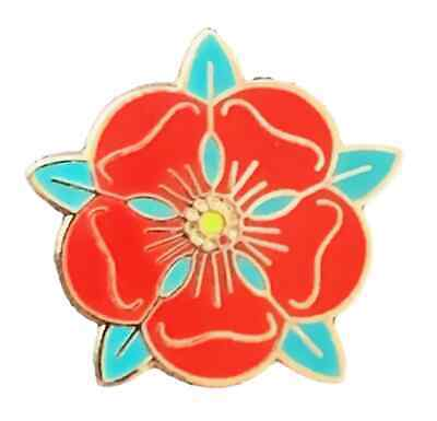 Small England County Of Lancashire Red Rose Quality Enamel Lapel Pin Badge T091E • 4.99£