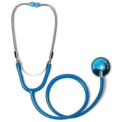 $19.99 • Buy Light Blue Single Head Stethoscope With Keep Calm And Rescue On Animal Dog Paw