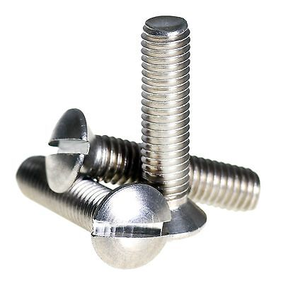 £1.80 • Buy M2 M2.5 M3 M4 A2 Stainless Steel Raised Slotted Countersunk Machine Screws Bolts