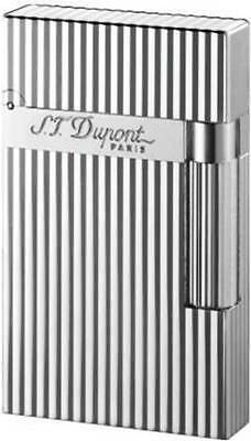 £371.69 • Buy S.T. Dupont Ligne 2 Lighter, Silver Vertical Lines, 016817 (16817) New In Box