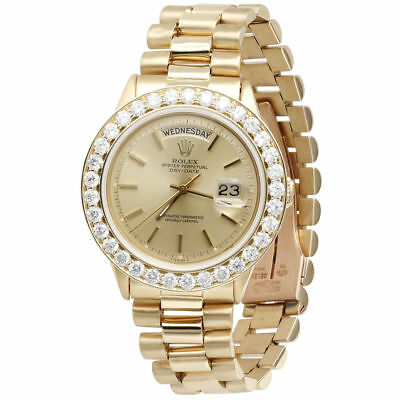 $ CDN20300.24 • Buy Mens Diamond Rolex Day-Date President 18k Yellow Gold Watch With Band 4 Ct.