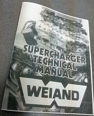 AU19 • Buy New Copy Of Weiand 671 Blower Supercharger Basics Tech Manual With Illustrations