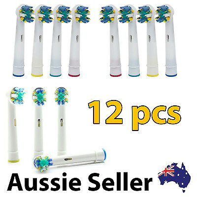 AU14.99 • Buy 12 Floss Action Oral B Compatible Electric Toothbrush Heads (3 Packs)
