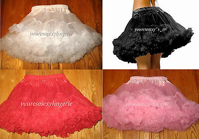 £16.69 • Buy Plus Size FLUFFY LAYERED TULLE PETTICOAT Costume 16  LONG  Fits 26  To 51  Waist