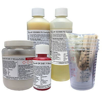 £25 • Buy Polycraft Silicone & Polyurethane Moulding & Casting Resin Kit - Small (SG2000)