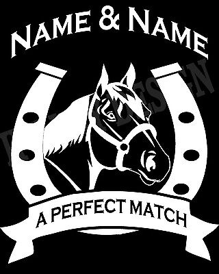 £19.95 • Buy Personalised Pony Horse And Rider Hoody Hoodie Add 2 Names Adults & Kids