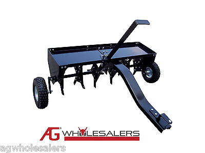 AU245 • Buy Lawn Core Plug Aerator 40  Tow Pull Behind Ride On Mower Lawn Corer Garden Spike