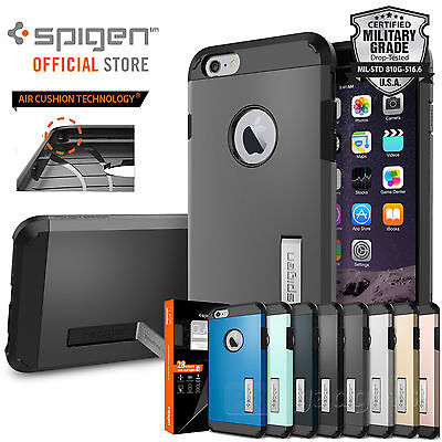 AU52.99 • Buy SPIGEN Tough Armor Hard Cover +GLAS.tR SLIM For IPhone 6S Plus / 6 Plus Case