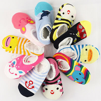 Non-slip Baby Toddler Low Cut Sock Shoes Slippers Boys Girls • 2.49£