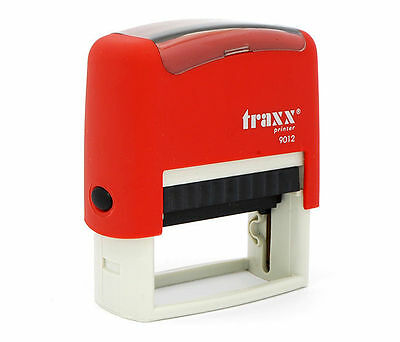 Personalised Rubber Stamp Self Inking Name Business Address Garage School Etc • 13.50£