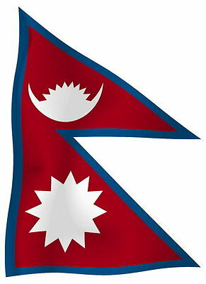 Sticker Decal Vinyl Decals National Flag Car Nepal Luggage Ensign Bumper • 2.45£