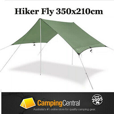 AU37.95 • Buy Oztrail Hiker Fly (350 X 210cm) Lightweight Camping Tent Cover Tarp Shade Hiking