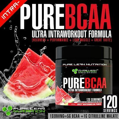 AU79.95 • Buy Pure Bcaa Intra Workout 120 Serves Watermelon Branch Chain Amino Acids Recovery
