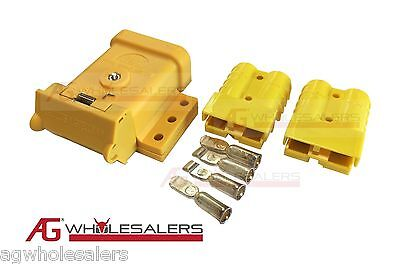 AU21 • Buy Yellow Anderson Plug Mounting Kit 50a With 2 Plugs Mount Cover Dust Cap External