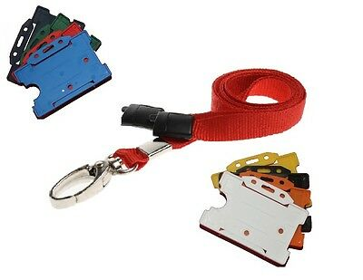 Red Safety Breakaway Lobster Clip Neck Lanyard With ID Card Badge Holder  • 2.20£