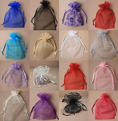 £2.85 • Buy 12 Organza Gift Bags Jewellery Candy Packing Pouches Wedding Party Favour