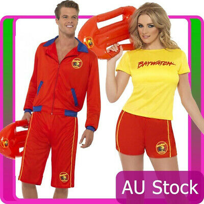 £21.67 • Buy Licensed Mens Ladies Baywatch Beach Lifeguard Patrol Fancy Dress Costume Outfits