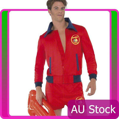 £27.03 • Buy Licensed Mens Baywatch Beach Lifeguard Patrol Fancy Dress Party Costume Outfits