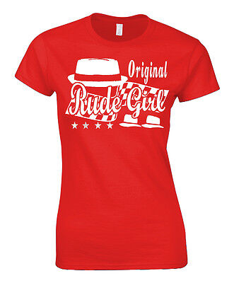 Original Rude Girl Ladies T-Shirt Mod's Skinheads Skin Girl 2 Tone Two 60's 70's • 12.99£
