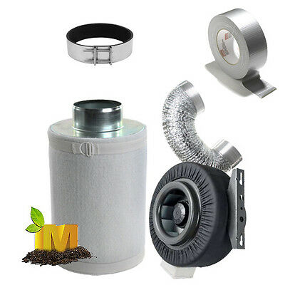 AU199 • Buy 150mm (6 Inch)  Hydroponics Ventilation Duct Fan Carbon Filter Ducting Kit