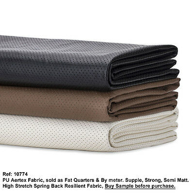 Neotrims FAUX LEATHER PU PVC Aertex Fabric,Water Resistant Stretch Soft Material • 3.75£