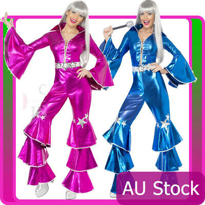 Licensed 60s 70s Dancing Queen Costume Disco Retro Smiffys Tribute Fancy Dress • 27.32£