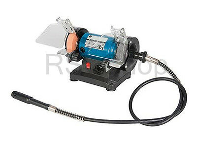 £44.99 • Buy Mini Bench Grinder With Flexible Shaft 75mm - 18 Pieces Set Kit 3 Year Warranty