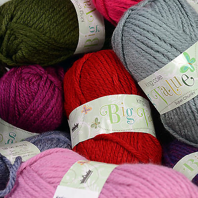King Cole Big Value Super Chunky 100g Ball 100% Acrylic Knitting Wool Yarn • 1.99£