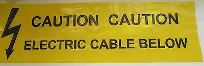 Caution Underground Electric Cable Below Warning  Tape Cut Lengths  • 27.50£