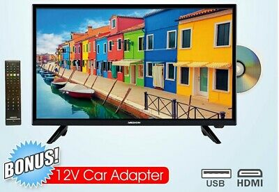 AU199 • Buy Medion 24  FHD 1080p LED LCD TV Built-in DVD Combo 240V AND 12V Caravan Boat