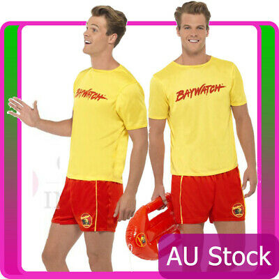 £21.62 • Buy Licensed Mens Smiffys Baywatch Costume Lifeguard Patrol Beach Fancy Dress Party