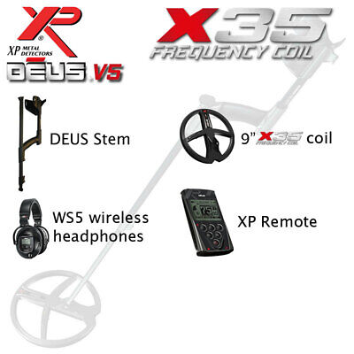 £1436 • Buy XP DEUS 9  X35 Coil With XP Remote And WS5 Headphones
