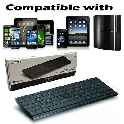 QWERTY Official Sony Wireless Slim Bluetooth Keyboard For PS2/3/4 & IPad IPhone • 8.99£