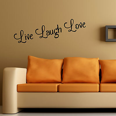 Live Laugh Love Wall Art Sticker Home Bedroom Living Room Quote Vinyl Decal • 2.99£