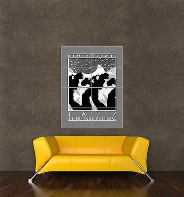 Giant Print Poster Ad Music Jazz Festival New Orleans 1980 Usa Pdc085 • 14.49£
