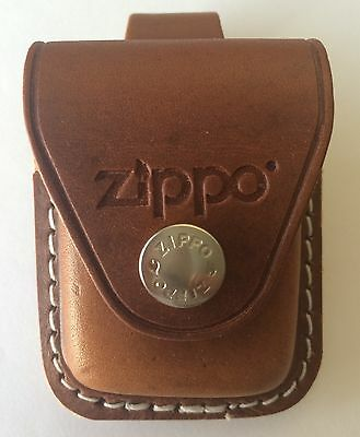 $9.85 • Buy Zippo Brown Leather Lighter Pouch With Belt Loop, LPLB, New In Box