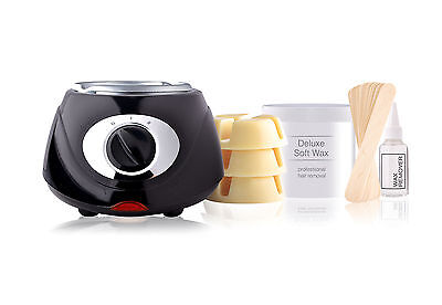 Rio Total Body Hard & Soft Waxing Pot Heater Home Kit Female & Male Hair Removal • 34.99£