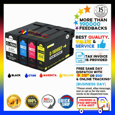 AU18.92 • Buy 4x NoN-OEM PGI1600XL PGI 1600XL BCMY Ink For Canon Maxify MB2760 MB2360 PGI1600