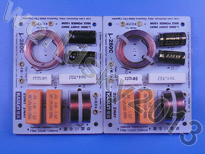 $ CDN33.96 • Buy 2pcs KASUN L-280C 2 Way 2 Unit Hi-Fi Speaker Frequency Divider Crossover Filters