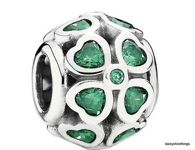 AU55.32 • Buy Authentic Pandora Silver Charm Green Lucky Clover #791496czn  Retired