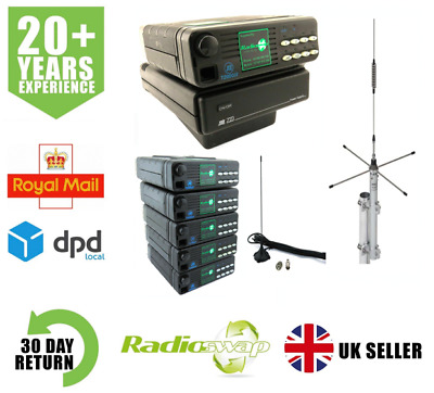 £395 • Buy Tait T2010 25 Watt Vhf Taxi System: 5 Mobile Radios, Base Station With Antennas