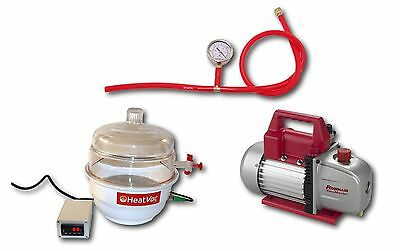 $549 • Buy HeatVacXL PLUS W5cfm Pump Heated Vac Extract Degas Solvent Concentrate Purge Oil
