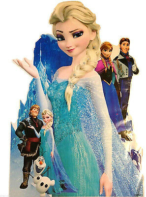 Frozen Disney Queen Elsa Olaf Childrens Nursery Stickers Decor Large Wall • 8.99£