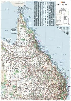 AU99.90 • Buy (laminated) Super Map Of Qld Queensland State (100x140cm) Australia Giant Poster