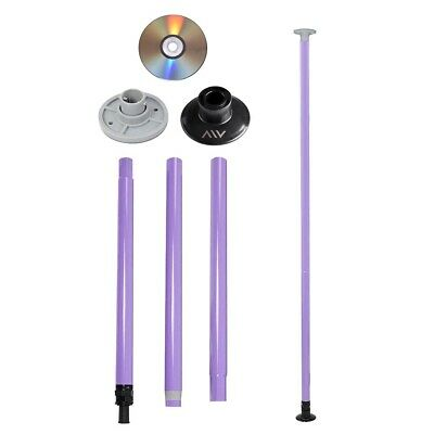 $62.90 • Buy Dance Pole Full Kit Portable Stripper Exercise Fitness Party Dancing Purple