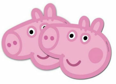 6 Peppa Pig Masks - Official Branded - Party Toy Loot Cardboard Gift Kids • 4.19£